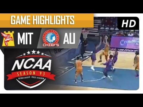 MU vs. AU | NCAA 93 | MB Game Highlights | July 8, 2017