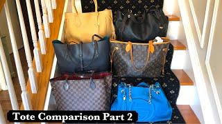 PART 2: Tote Comparison! Large Totes: LV, Gucci, Longchamp, Coach, D&B