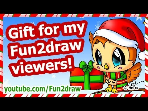 download youtube mp3 christmas gift for my fun2draw viewers how to draw a christmas card picture