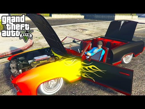 GTA 5 LOWRIDER DLC - CUSTOMIZING ALL NEW CARS, HYDRAULICS, NEW CLOTHES & MORE! (GTA 5 DLC)