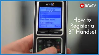 How To Register a BT Handset