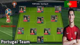 Create Portugal World Cup 2018 Team ● Kit Logo & Players ● Dream League Soccer 2018