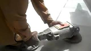 How Can I Attach a Shroud and Vaccum When I use Angle Grinder This Way?