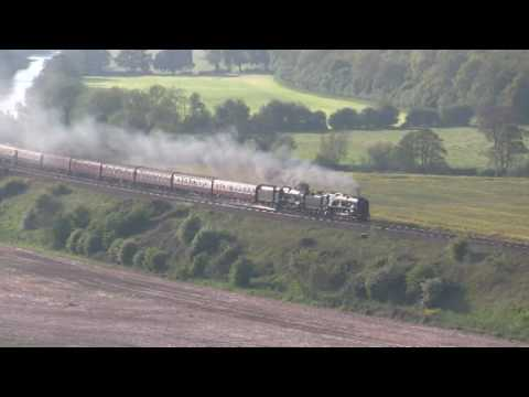 34052 Lord Dowding & 46100 Royal Scot at Newton St Loe with …