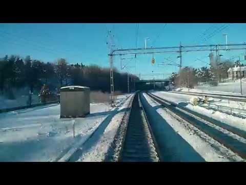 EU 2016: Sweden - cab ride from Stockholm (Solna depot) to U…
