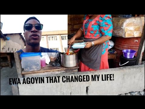 VLOG: Eating Ewa Agoyin from Lagos Island!