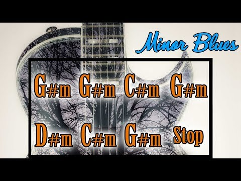 Minor Blues Backing Track in G sharp minor (A flat minor)