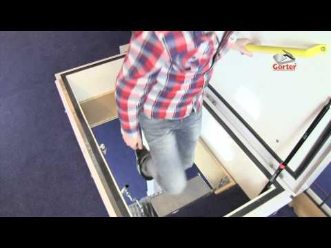 Gorter roof hatch: Roof hatch with scissor stairs combination