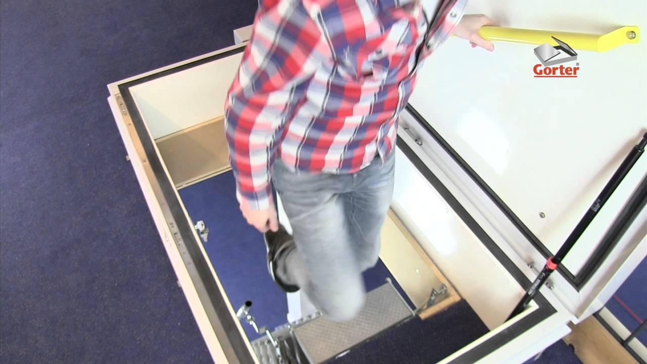 Gorter roof hatch - Roof hatch with scissor stairs