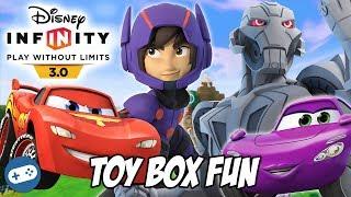 Cars Hiro And Ultron Disney Infinity 3.0 Toy Box Fun Gameplay