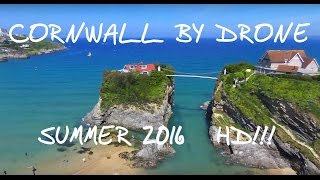 An Aerial Tour of Cornwall - Newquay, Fistral Beach, Tintagel From The Air HD 1080P
