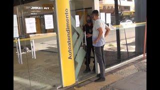 Agência bancária permanece fechada para sanitização