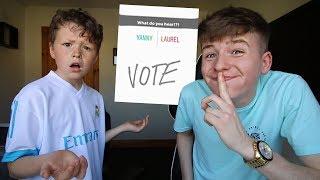 YANNY or LAUREL *PRANK* on Little Brother