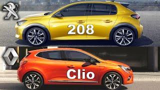 Peugeot 208 vs Renault Clio, Clio vs 208, Renault vs Peugeot