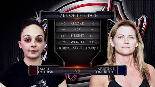 "Caged Aggression XXI ""The Champions"" Night 2. Fight 6. Imari Claude vs Kristine Ion Rood"