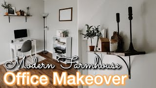 DIY HOME OFFICE MAKEOVER ON A BUDGET | Decorating Ideas | Modern Farmhouse Office | Home Office DIY