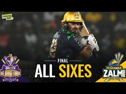 PSL 2019 Final: Zalmi vs Gladiators | PEL ALL SIXES