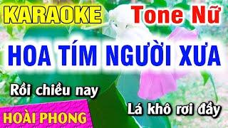 karaoke-hoa-tim-nguoi-xua-tone-nu-nhac-song-moi-hoai-phong-organ