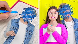 OMG! MAGIC DIARY GRANTS WISHES    Fun School Situations! Rich VS Poor Crazy Pranks By 123 GO! TRENDS