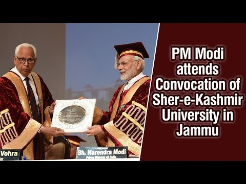 PM Modi attends Convocation of Sher-e-Kashmir University in Jammu