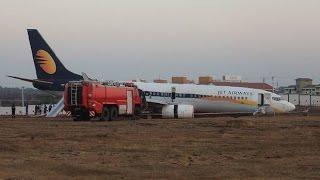 India: Avión de Jet Airways se sale de la pista provocando heridas a 15 pasajeros