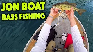 Bass Fishing in a JON BOAT! How Does It Compare to a KAYAK?