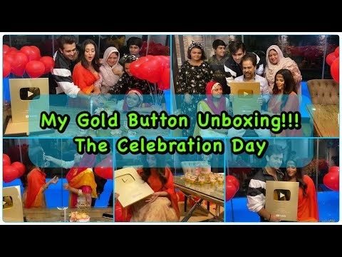 Unboxing Youtube gold button: Dipika