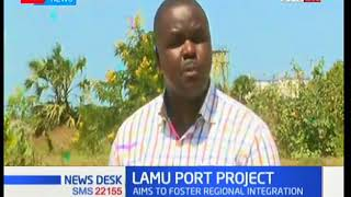 Ministry of Transport officials tour the Lamu port project