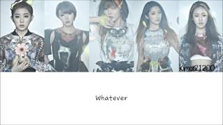 4Minute - Whatever [Hangul/Romanization/English] Color & Picture Coded HD