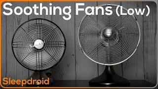 ► Soothing Fan Sounds for Sleeping ~ 10 hours of Fan White Noise Video, Binaural Effect (Low speed)