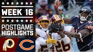 Redskins vs. Bears | NFL Week 16 Game Highlights