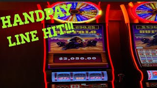 High Limit Buffalo Thundering 7's! $15 Spins! Handpay Line Hit!