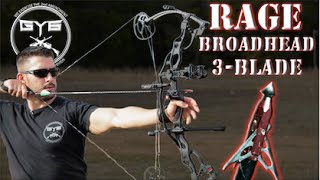 Compound Bow RAGE Broadheads vs Meat & Bone