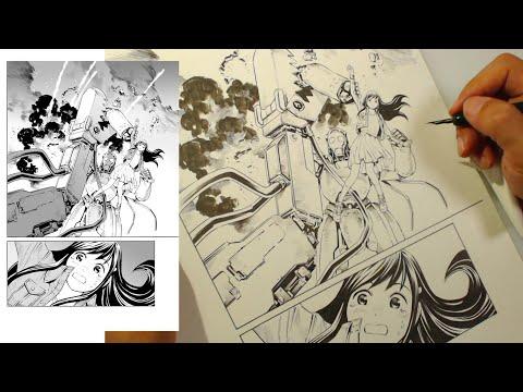 Mangaka Artist Draws a Page from Start to Finish