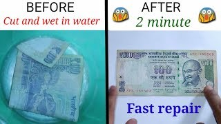 How to repair torn currency notes | DIY