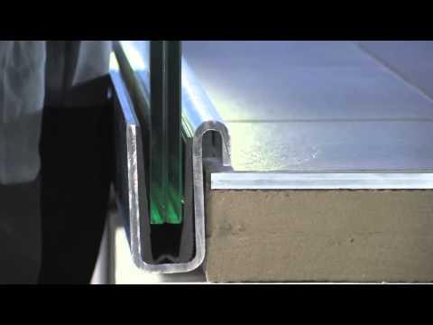 Celoskleněné zábradlí balardo - montáž na ocelovou lyžinu