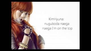 4Minute Huh Lyrics