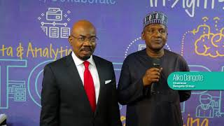 Aliko Dangote And Jim Ovia At The KPMG In Nigeria Insights Centre Launch