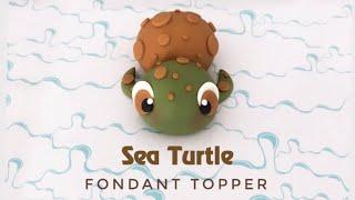 How To Make A Sea Turtle Fondant Cake Topper