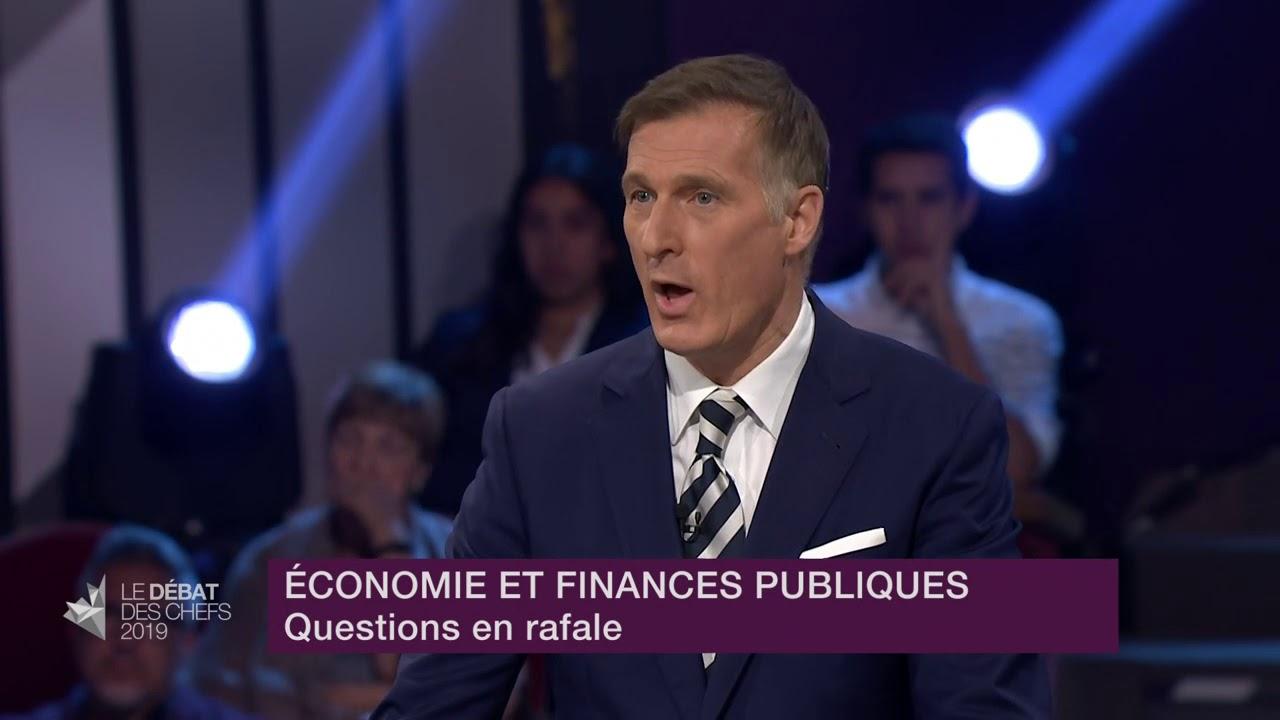 Maxime Bernier répond à la question du modérateur sur la gestion de l'offre