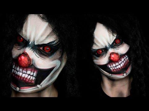 Scary Clown Halloween Tutorial