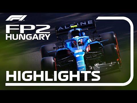 F1第11戦ハンガリーGP(ブタペスト)のFP2ハイライト動画