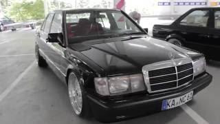 "Mercedes-Benz 190E W201 black with 19"" BBS polished   BodyLowTion   TurboDay 3.0"