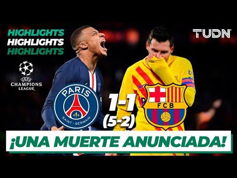 Highlights | PSG 1(5)-(2)1 Barcelona | Champions League 2021 – Cuartos | TUDN