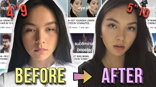 I Tried SUBLIMINALS For ONE WEEK  *i Grew Taller!*