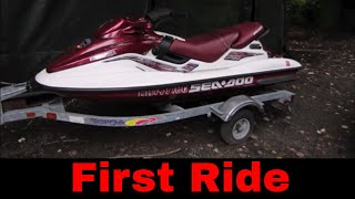 Yard Sale Jet Ski Repair and Ride
