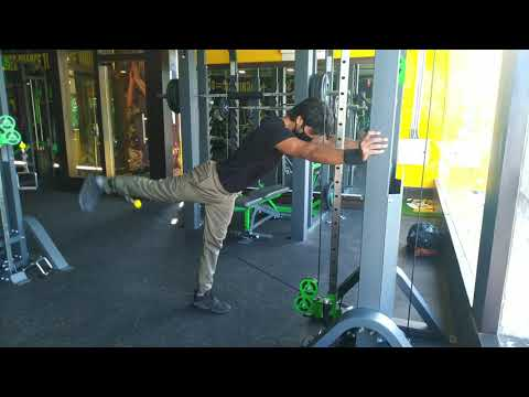 Cable Bent-over Hip Extension