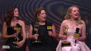 Elisabeth Moss, Ann Dowd And Alexis Bledel Celebrate Multiple Wins | EMMYS 2017