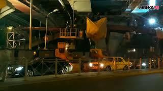 Запущенный мост Бетанкура доделывают спешно и шумно