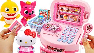 Hello kitty mini market cash register toy~! Let's go camping with Pororo! #PinkyPopTOY
